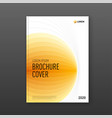 annual report cover design template for business vector image vector image