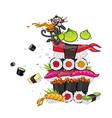 asian food sushi sashimi wasabi image isolated on vector image vector image