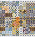 azulejos tiles patchwork abstract wallpaper vector image