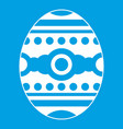 beautiful easter egg icon white vector image vector image