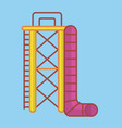 big ladder and slide vector image vector image