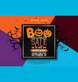 boo halloween sale banner with scary vector image vector image