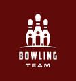 bowling team logo vector image vector image