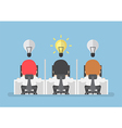Businessman get new idea vector image vector image