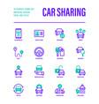 car sharing set mobile app on smartphone driver
