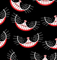 Cheshire cat Smile seamless pattern background vector image vector image