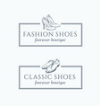 classic fashion shoes footwear boutique abstract vector image vector image