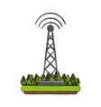 communication radio antenna vector image vector image