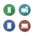 Computer electronics icons set