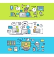 Coworking Center Freelancer Concept Office Work vector image vector image