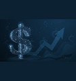 dollar abstract 3d dollar sign with graph vector image vector image