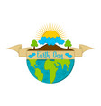 earth day label vector image
