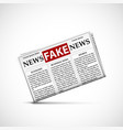 fake news in daily newspapers vector image