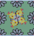 fishes on green black and gray seamless pattern vector image