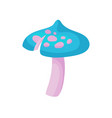 flat icon of magic mushroom with blue vector image vector image