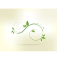 Floral background with flowers and swirls vector image vector image