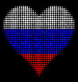 halftone russian hearts suit icon vector image vector image