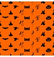 Halloween pattern Easy change colors vector image vector image