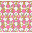 hand drawn seamless pattern candlestick colored vector image vector image