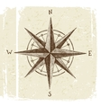 hand drawn wind rose vector image