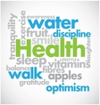 Health Word Cloud vector image