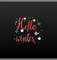 hello winter holiday banner vector image