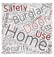 Home safety Tips text background wordcloud concept vector image vector image