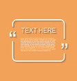 Icon of Quotation Speech Bubble template with vector image vector image