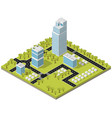 landscape city in isometric vector image vector image