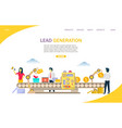 lead generation website landing page design vector image