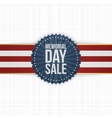Memorial Day Sale realistic Banner and Ribbon vector image vector image