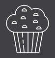 muffin line icon food and drink sweet sign vector image vector image