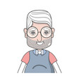 old man with hairstyle and casual clothes vector image vector image