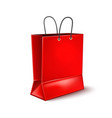red shopping bag for black friday poster vector image vector image