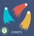 Retro Comet vector image