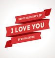 Saint Valentines Day Ribbons vector image vector image
