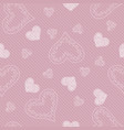 seamless pattern background with hearts vector image