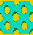 seamless pattern with lemons design element vector image
