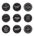 Set of vintage product labels - quality guaranteed vector image