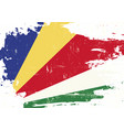 seychelles scratched flag vector image vector image