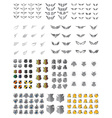 shield wing art pack vector image vector image