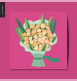 simple things - bouquet flowers vector image vector image