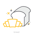 Thin line icons Bread vector image