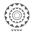 triangle brushs brushs patterns in a circle line vector image vector image