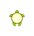 turtle and lemon combination logo template vector image