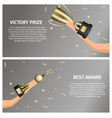 victory prize and best award web banners vector image