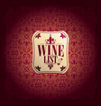 vine list baroque card vector image vector image