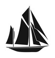 vintage boat explorerssailboat on which ancient vector image vector image