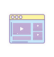 website with important videos information vector image vector image