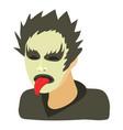 rock musician icon cartoon style vector image